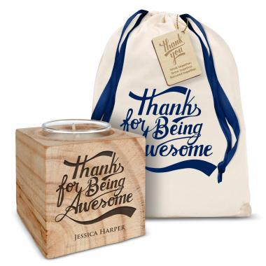 Personalized Candle Gift Set - Making a Difference