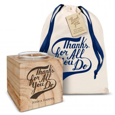 Personalized Candle Gift Set - Thanks for Being Awesome