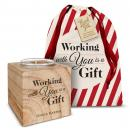 Personalized Candle Holiday Gift Set