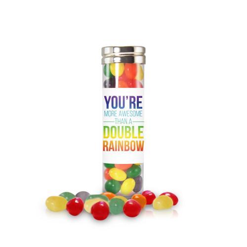 Double Rainbow Jelly Bean Candy Tube