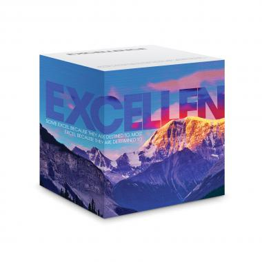 Excellence Mountain Self-Stick Note Cube