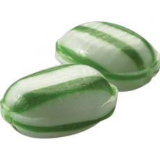 Candy, Food & Gifts - MegaMints<sup>®</sup> - Hot Stamping - Green Striped Spearmint -  Individually wrapped mint candy, priced per case of 1000