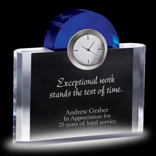 Sapphire Crystal Clock