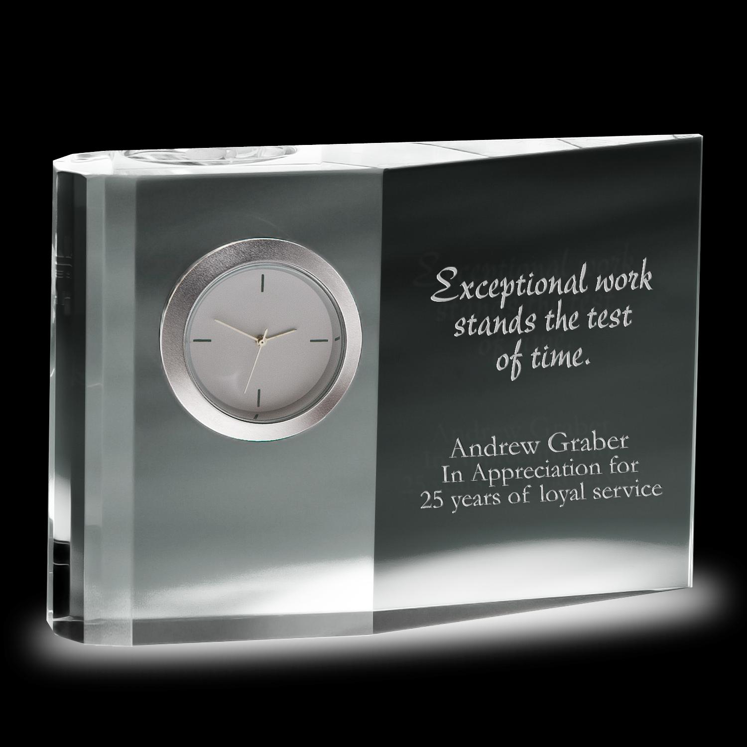 Wedge Crystal Clock