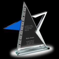 Colored Glass and Crystal Awards - Excellence Star Glass Award