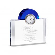Engraved Clock Awards - Sapphire Crystal Clock