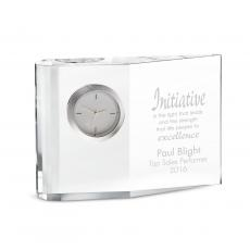 Retirement Gifts - Wedge Crystal Clock