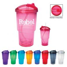 Travel Mugs/Cups - 16 oz. Double wall tumbler with straw