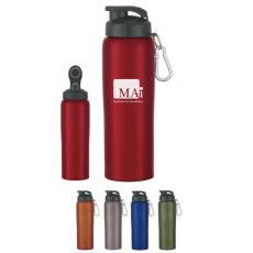 Bottles General - 24 oz. Stainless steel bike bottle with screw on, spill resistant sip through lid