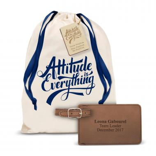 Vegan Leather Luggage Tag Gift Set