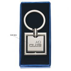 Key Holders General - Square -  Spinning metal key tag