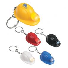 Key Holders General - Hard hat LED key chain, batteries included, inserted