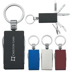 Key Holders With Bottle Or Can Opener - 5 In 1 Multi-function aluminum key tag