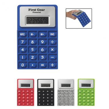 Flexi Calc - Flexible rubber calculator with 8 digit display