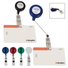 "Tradeshow & Event Supplies - Badge holder with 24"" retractable cord and white laminated label"