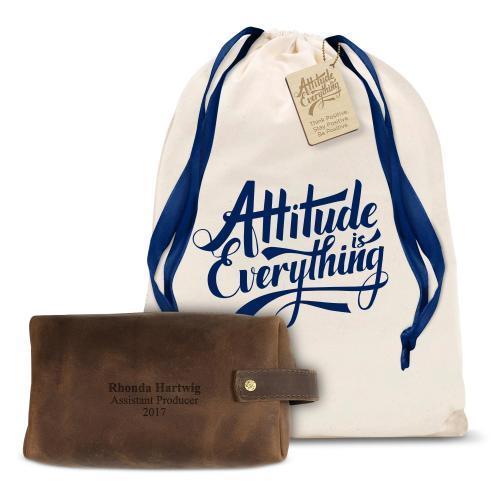 Leather Dopp Bag Gift Set