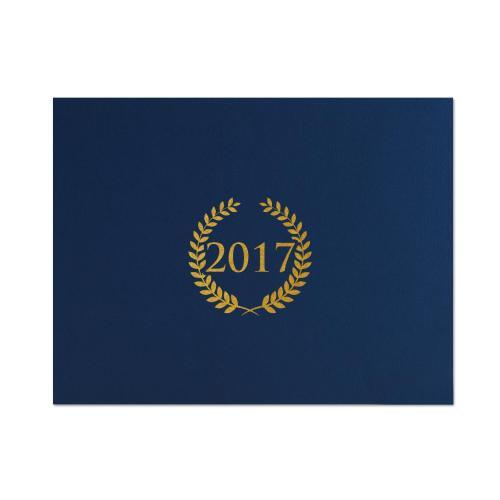 2017 Wreath Linen Certificate Folders