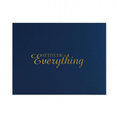 Attitude is Everything Linen Certificate Folders