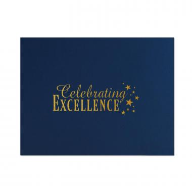 Celebrating Excellence Linen Certificate Folders