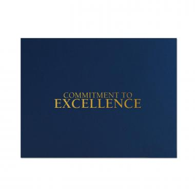 Commitment to Excellence Linen Certificate Folders