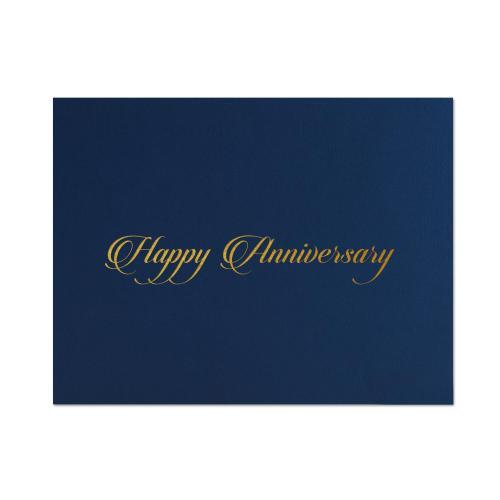 Happy Anniversary Linen Certificate Folders