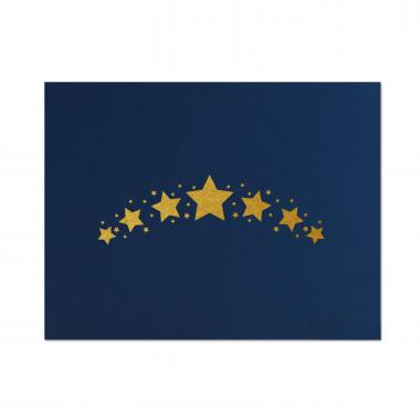 Star Arc Linen Certificate Folders