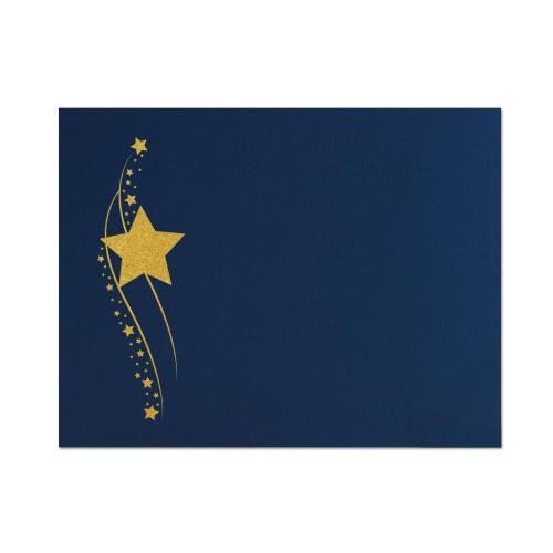 Star Fall Linen Certificate Folders