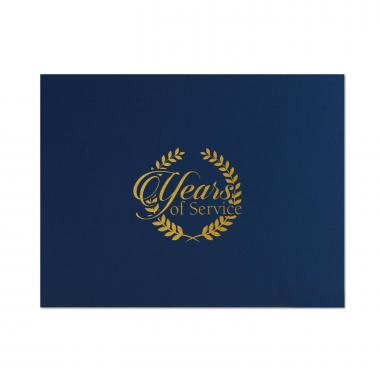 Years of Service Linen Certificate Folders
