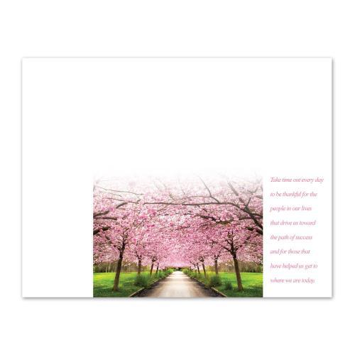 Gratitude Cherry Blossoms Certificate Paper