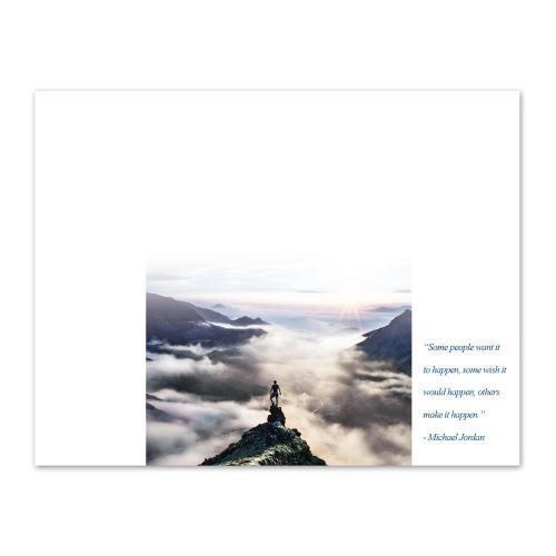 Make it Happen Mountain Certificate Paper