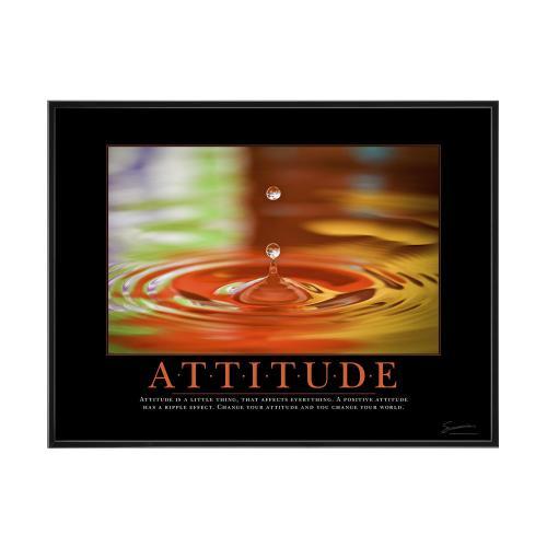 Attitude Rainbow Drop Mini Poster
