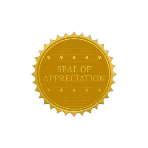Seal of Appreciation Gold Foil Certificate Seals