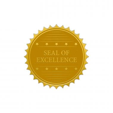 Seal of Excellence Gold Foil Certificate Seals