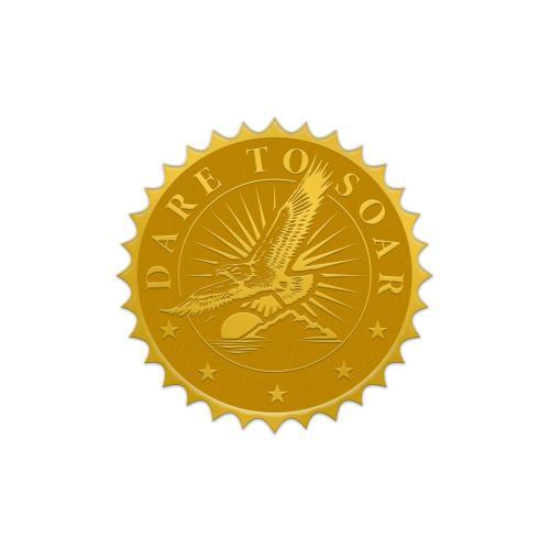 Dare to Soar Gold Foil Certificate Seals
