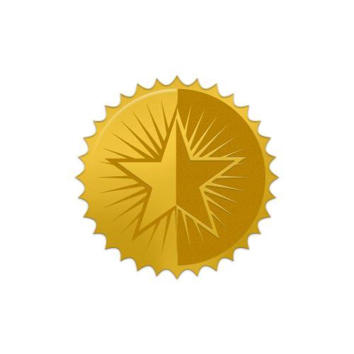 Star Gold Foil Certificate Seals