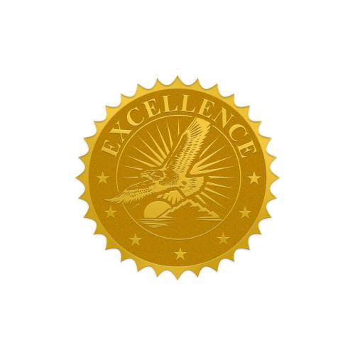Excellence Eagle Gold Foil Certificate Seals