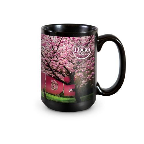 Gratitude Cherry Blossoms 15oz Ceramic Mug