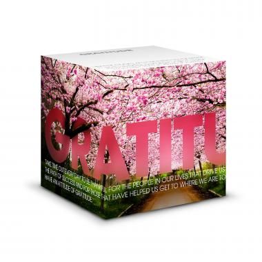 Gratitude Cherry Blossoms Self-Stick Note Cube