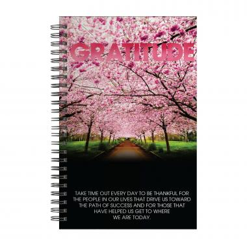 Gratitude Cherry Blossoms Spiral Notebook