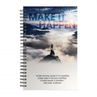 Make it Happen Mountain Spiral Notebook