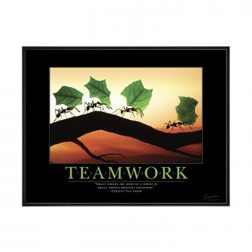 Teamwork Ants Mini Poster