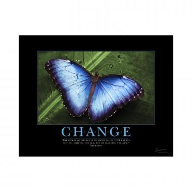 Change Butterfly Mini Poster