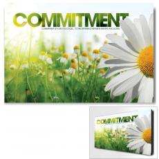 Modern Motivational Art - Commitment Daisy Motivational Art