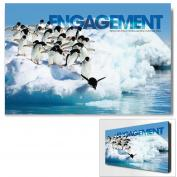 Engagement Penguins Infinity Edge Wall Decor