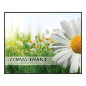 Commitment Daisy Unmatted Framed Motivational Poster