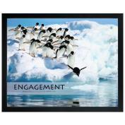 Engagement Penguins Unmatted Framed Motivational Poster