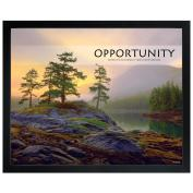 Opportunity Mountain Lake Unmatted Framed Motivational Poster