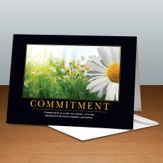 Classic Motivational Cards - Commitment Daisy 25-Pack Greeting Cards