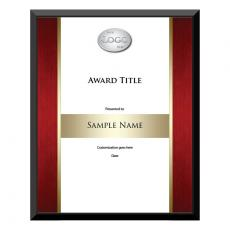 Custom Achievement Plaque Red