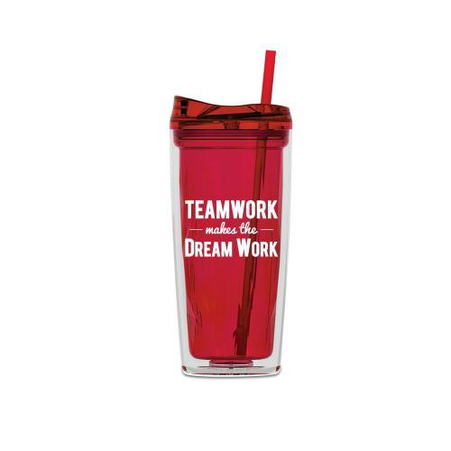 Teamwork Dream Work 16oz Gem Tumbler